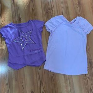 Girls lavender tshirt bundle American Girl 7/8